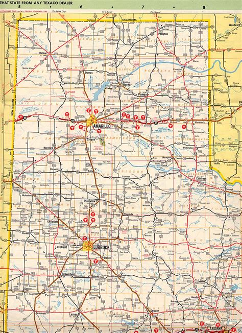 texas panhandle map of cities texas panhandle images