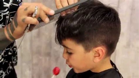 howto give youry a shag haircut how to give your kid a mod fade haircut tutorial boy