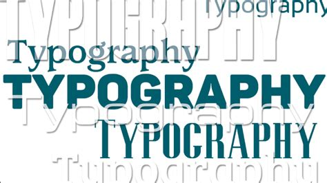 typography in word typography for motion graphic design videomaker