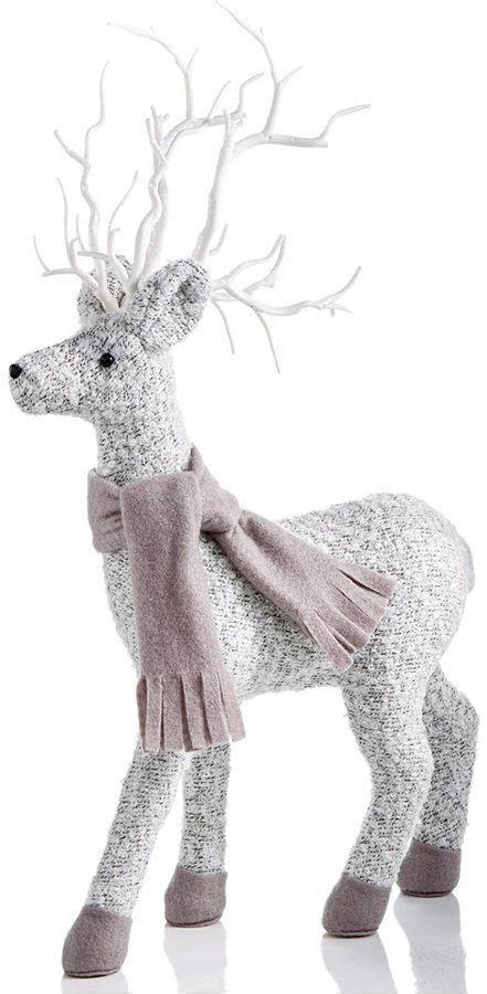 holiday lane fabric deer figurine created  mac
