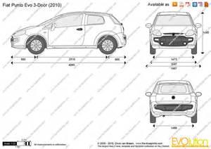 Fiat Punto Evo Dimensions The Blueprints Vector Drawing Fiat Punto Evo 3 Door