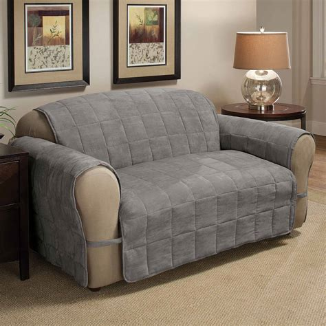 sofa protector linen store quilted reversible microfiber furniture pet