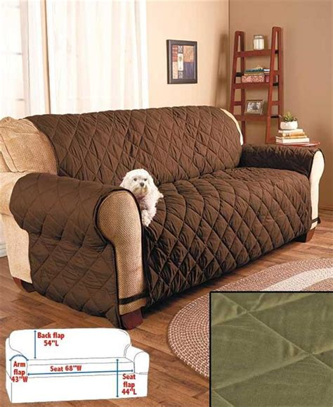 Quilted Slipcovers by Quilted Plumped Fabric Furniture Sofa Loveseat Chair