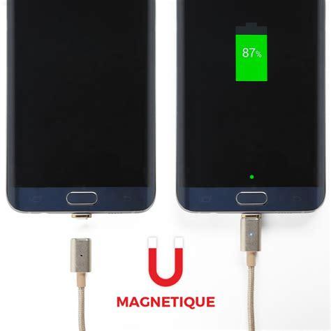 cable de charge magnetique micro usb