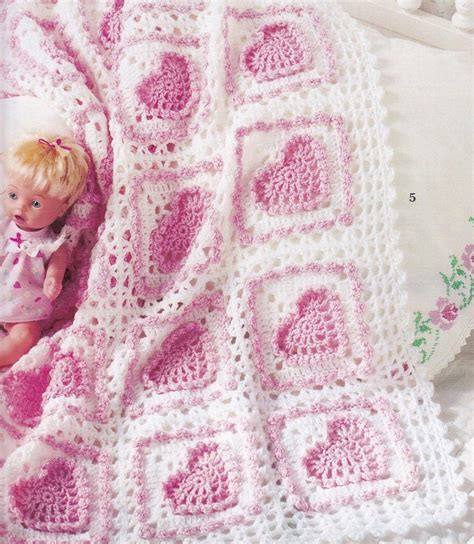 heart pattern baby blanket 7 baby heart crochet afghan patterns blankets pattern book