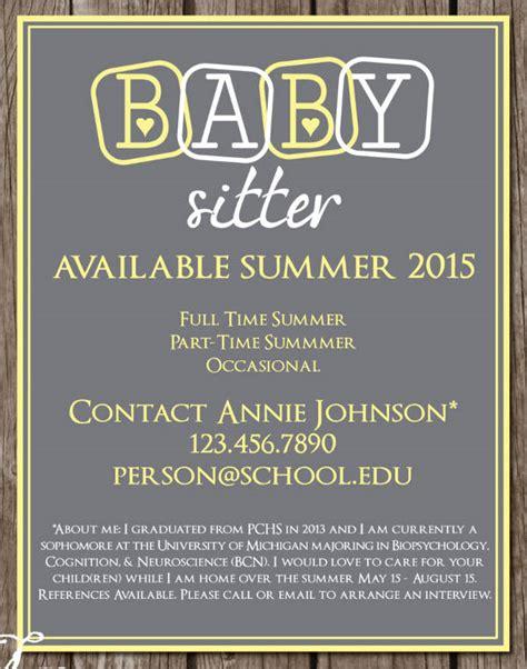 babysitting flyer 5 free psd vector ai eps format