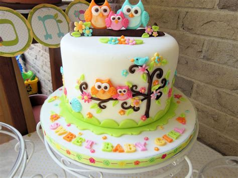 Owl Baby Shower Cakes For A owl family baby shower cake cakecentral