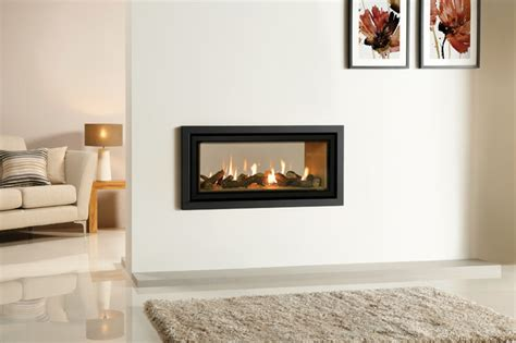 Two Sided Gas Fireplace Insert by Gazco Studio Duplex Sided Gas Fireplace