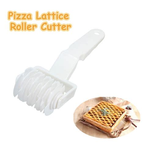 Pisau Cutter Roller Lattice Pastry Pizza plastic pizza lattice roller cutter pie bread pastry baking tool alex nld