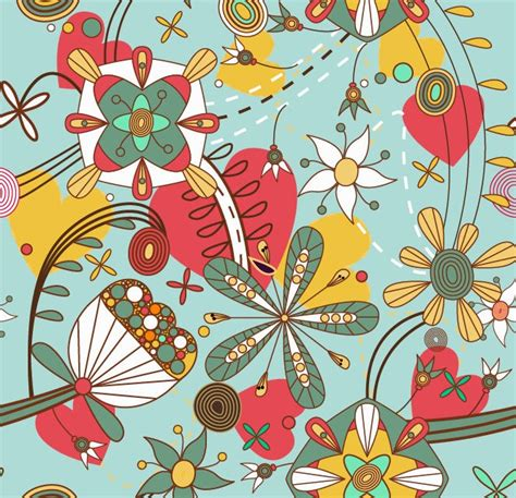 floral seamless pattern vector vector seamless floral pattern background free vector