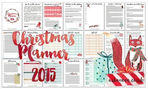 printable christmas planner freebie urban eve