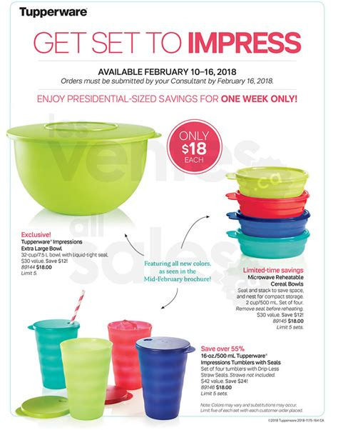 Sale Bowl Tupperware classic bowl set 2 for 1 by tupperware allsales ca