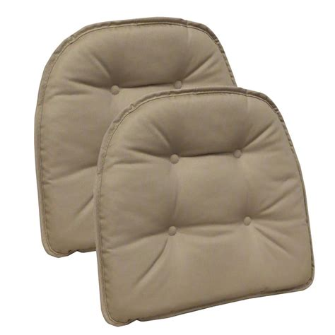non tufted chair cushions gripper non slip 15 in x 16 in twill brownstone tufted