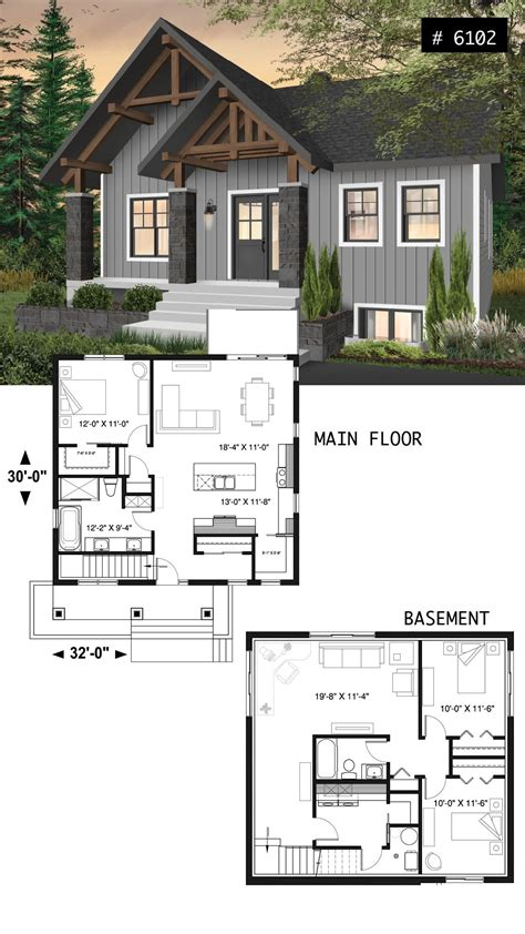 small  affordable bungalow house plan  master