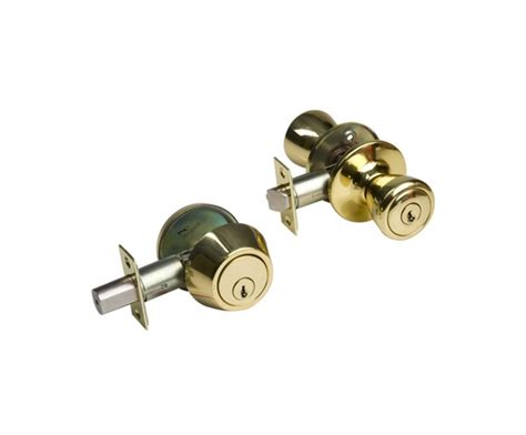 Combination Door Knob Lock by Entry Lock And Single Cylinder Deadbolt Combination
