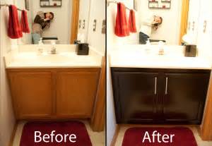 Staining Kitchen Cabinets Darker Before And After Gel Staining Cabinets