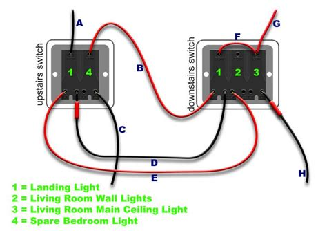 wiring upstairs downstairs light switch repair wiring scheme