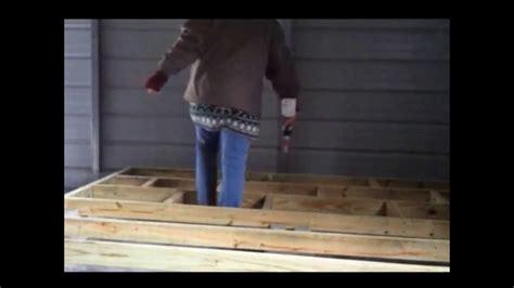 how to build floor building a raised wood floor youtube