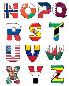 flags of the world lettering letters clipart cliparts galleries