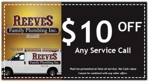 Coupons   Reeves Family Plumbing of Dallas Fort Worth