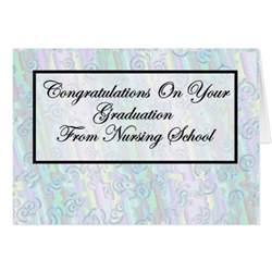 congratulations nursing school graduation greeting card zazzle