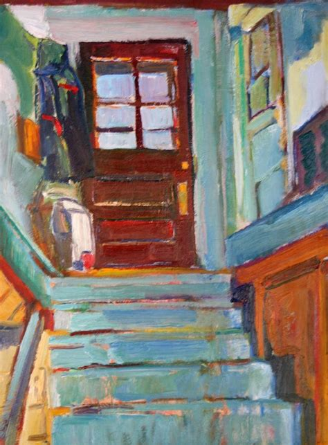 A Painting Within A Painting by Painting On The Inside Stairs Painting By Chris Easley