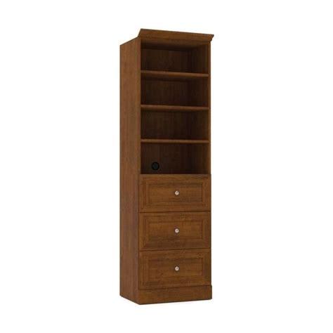 Brown 3 Drawer Storage Bestar Versatile 25 3 Drawer Storage Unit In Tuscany