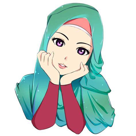 300 gambar kartun muslimah bercadar cantik sedih keren