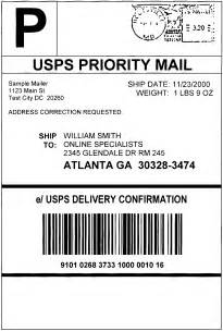 usps shipping label template bing images