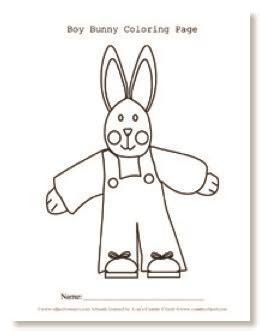 boy bunny coloring page teacher s printables bunny boy coloring page