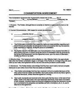 cohabitation contract template free agreement templates free massachusetts