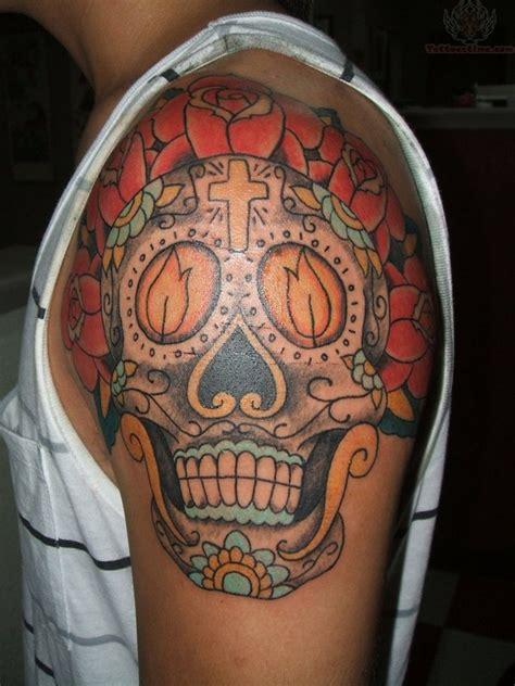 sugar skull shoulder tattoo sugar 150 breathtaking skull tattoos and meanings april 2018