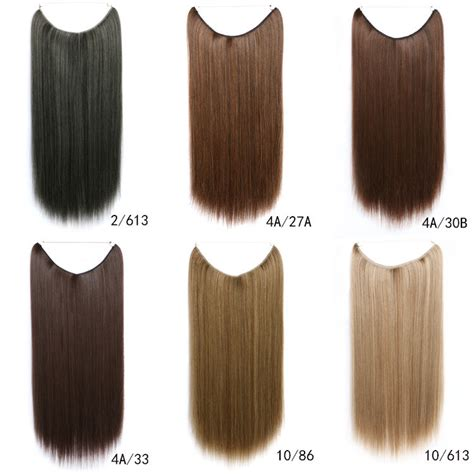 Hair Extension Warna Warni new design fishing line 55cm mix color synthetic hair extension 16 colours hairs