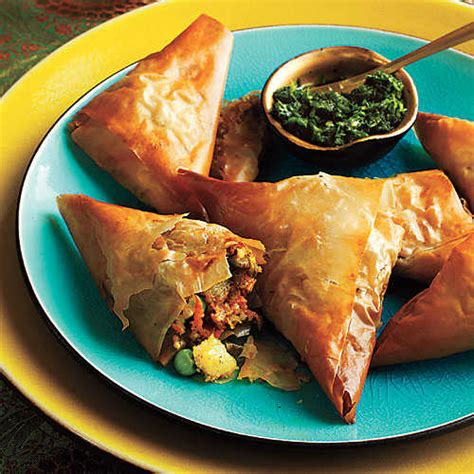 cooking light appetizers vegetable samosas with mint chutney thanksgiving