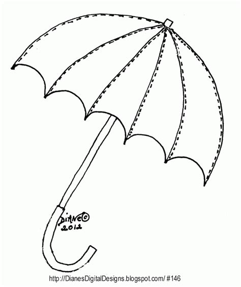 free printable umbrella templates umbrella template coloring home