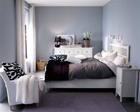 hemnes bedroom ideas ikea hemnes bed in white and grey walls for the home