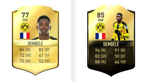 ousmane dembele on fifa 18 fifa 18 these will be the best young players on the game