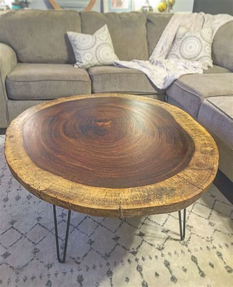 rounded edge coffee table buy a handmade live edge acacia coffee table made