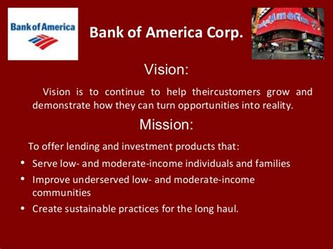 bank of america corp vision