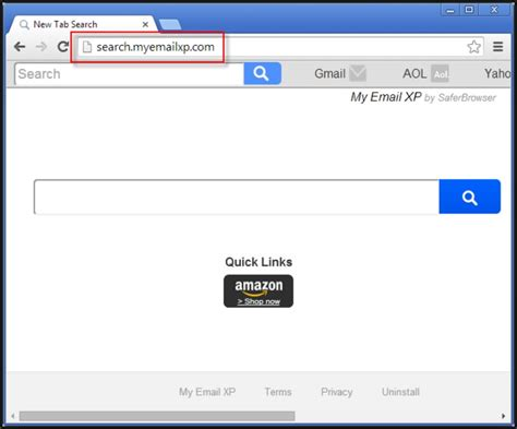 Remove Email From Search Remove Search Myemailxp From Chrome Firefox Ie Updated
