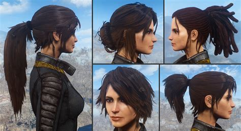 hairstyles ark ps4 ponytail hairstyles by azar v2 5a at fallout 4 nexus