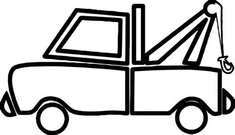 elegant tow truck coloring page with tow truck coloring pages