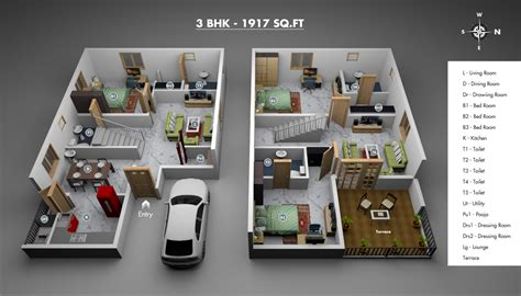 3d plan of house 3d villa plans modern house