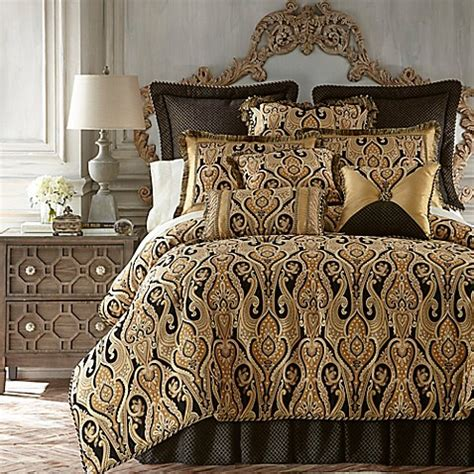 gold and black bedding austin horn classics alexandria reversible comforter set