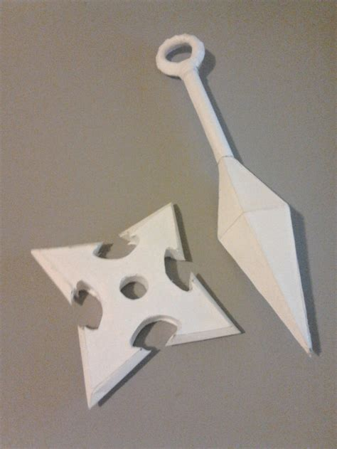 How To Make Origami Kunai - kunai and shuriken by dremvahlok on deviantart