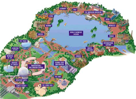 map of epcot epcot center map