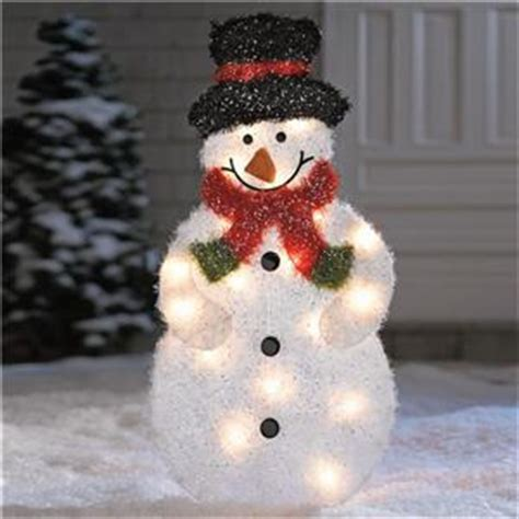 lighted pre lit outdoor frosty snowman christmas holiday