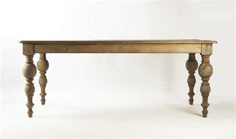 Limed Grey Oak Classic Farmhouse Baluster Leg Dining Table Baluster Dining Table