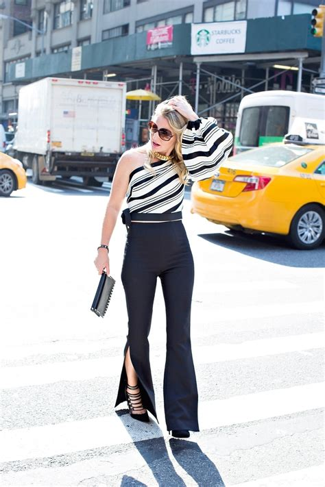 laced up ny lacedupn twitter one shoulder top busbeestyle com fashion blogger texas
