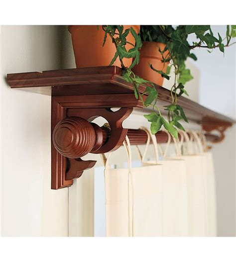 curtain rod shelf perhaps this is what i need for the window in the kitchen
